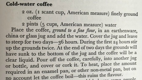 cold water coffee crop