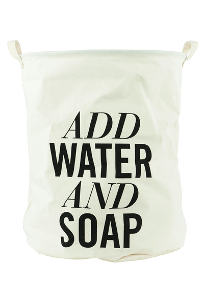 add water and soap
